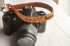 Custom Camera Leather Wrist  Strap  add your name by MesaDreams, $40.00