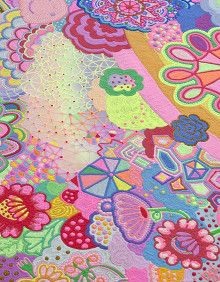 Nicole Andrijevic and Tanya Schultz are a couple of australian artists. Better known as Pip & Pop, they make installations and landscapes of sugar and plastic based on japanese kawaii culture.