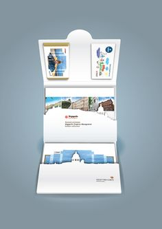 Die cut folder for 2 booklets and 2 chocolate bars by Serge Vo, via Behance