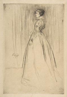 The Velvet Dress - James McNeill Whistler