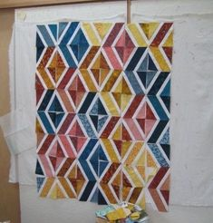 Blog Entries | MAGEEZ ROOM | Maggie Geometric Quilt, Geometric Designs, Apple Crates, Feather Stitch, Great Backgrounds, Cat Hair, Moving Day, Diamond Quilt, Quilt Bedding