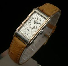 RARE VINTAGE 1930S ROLEX PRINCE RAILWAY DOCTORS WATCH. ROSE GOLD AND STEEL.