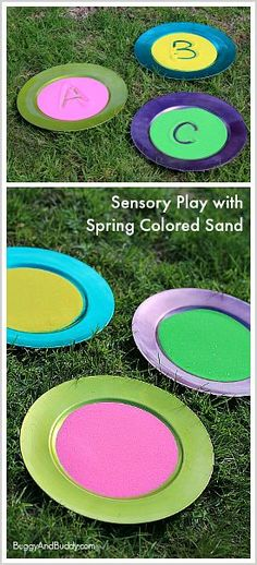 Fine Motor Practice and Sensory Play for Spring with Sand Trays~ BuggyandBuddy.com