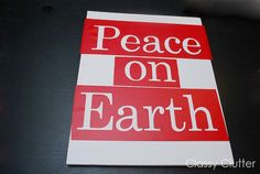 Peace on Earth vinyl stencil by ClassyClutterDesigns on Etsy