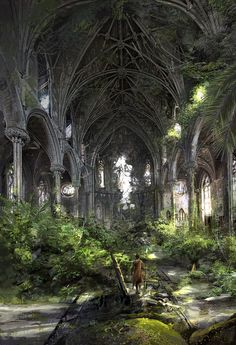 tropical cathedral , klaus wittmann on ArtStation at http://www.artstation.com/artwork/tropical-cathedral