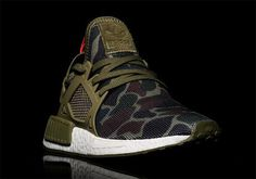 """We know BAPE already designed a couple of colorways of the adidas NMD R1, but did they whip up an NMD XR1 too? This first look at a """"Duck Camo"""" style of the newest NMD model surfaces today, and while … Continue reading →"""