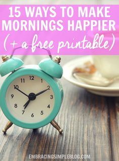 Do you feel like you wake on the wrong side of the bed....every single day? As a night owl by nature, I'm here to tell you that mornings CAN be enjoyable, even if you aren't a morning person. Read these 15 life-changing ways to make your mornings happier, plus receive a free printable checklist to help you implement these changes into your own life!