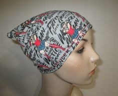 Turban//Chemo Hat Cranberry Knit Cancer Hat Hair Loss Alopecia Head Cover