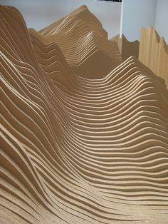 "2 X 4 Landscape, 2006 • Systematic Landscapes | Maya Lin  [envirnmental art] ""composed of more than fifty thousand vertical two-by-four  boards placed in a configuration that ... suggests a natural form such as an earthen mound or an ocean swell"" Corcoran Gallery of Art"