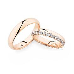 40640eb0fcdf Die versetzt angeordneten Diamanten   die Fassung machen das Trauringpaar  zu etwas Besonderem. Entdecken Sie die wundervollen Christian Bauer  Trauringe!