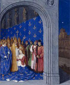 Coronation of Mary, Brabant,  Grand Chroniques de France 1455-1460