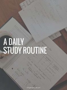 A Daily Study Routine - Living the Gray Life College Success, College Hacks, Online College, Education College, College Courses, Science Education, Life Science, Education Quotes, Physical Education