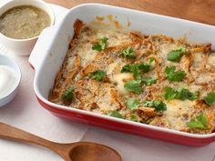 Chile Cheese Casserole : This breakfast dish was inspired by the Mexican dish chilaquiles. Using baked tortilla chips, a mixture of eggs and egg whites, and just a bit of sharp cheddar and pepper Jack keeps the fat low but the flavor high.