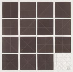 Sol LeWitt Fifteen Folds, Vertical, Horizontal, Diagonal Left and Right, and All Their Combinations, 1976 Folded paper