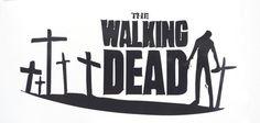 """The Walking Dead Zombie Cross Car Window Vinyl Decal Sticker 4""""x8"""" in 10 Colors"""