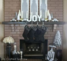 Nutcracker Christmas Mantle - The Crafted Sparrow