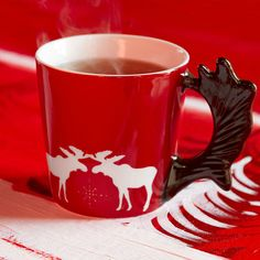 Starbucks® Christmas Moose Mug with Gold Decals, 355 ml/12 fl oz | Starbucks® Store United Kingdom (UK) 10.95