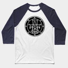 Celestial Sun Space Crystal Ball Hands Spiritual Symbolic Baseball T-Shirt Tee