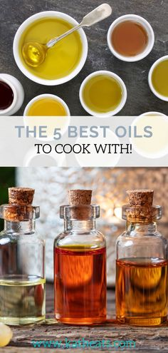 There are so many oils out there that it can be confusing to figure out which ones to use when. This blog post has a chart which has always been a great reference to me and led me to use the following oils on a regular basis. I put together this oil infographic that details my 5 favorite oils and a little about them. These are the 5 healthiest oils to cook with! #oils #cookingoils Food Tips, Food Hacks, Real Food Recipes, Healthy Oils, Easy Healthy Recipes, Hidden Vegetables, Best Oils, Mindful Eating, Health And Nutrition