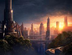 Futuristic City, Future Architecture, Kalenda-the platforms