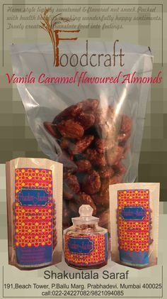 Vanilla and Caramel coated Almonds ! Perfect gift for Diwali