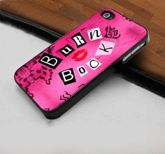 Pink Cute Mean Girls Burn Book  - Hard Case Print for iPhone 4 / 4s case - iPhone 5 case - Black or White (Option Please)