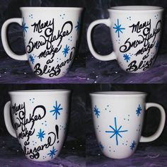 Snowflake... Many Snowflakes Make A Blizzard. Not my president. Anti-Trump. Protest. Dump Trump. Hand Painted. Kiln fired. Coffee mug. by LunaZingara on Etsy
