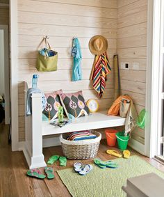 An easy place to throw beach items, designed by Tracery Interiors