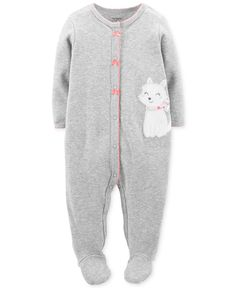 Carter's Baby Girls' Kitty Coverall