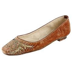 Velvet Embroidered Ballet Flat | EMMA HOPE SHOES (these are not antique!)- so beautiful
