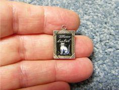Antique German enamel silver Cat Charm - dated 1904 Depose - fabulous Piece EUR 299,71