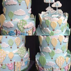 Hier meine Torte für eine Babyparty. Ob es ein Mädchen oder ein Junge ist, sieht man erst beim anschneiden. Cake, Desserts, Food, Work Shop Garage, Tailgate Desserts, Deserts, Kuchen, Essen, Postres
