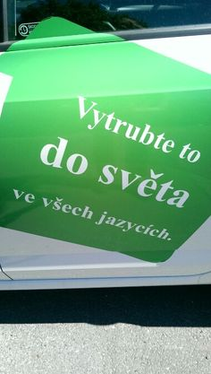 Mate neco? Vytrubte to do sveta! If you got something to say, shout it into the world!