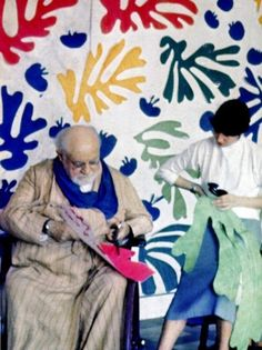 Henry Matisse...his museum in Nice France is so wonderful. It has all of his later works where he actually cut shapes to form art