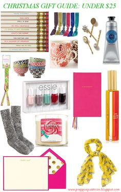 The Preppy Equestrian: Christmas Gift Guide: Under $25 -- perfect stocking stuffers