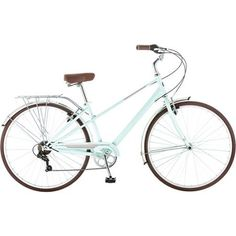 Add a little basket up front and a box at the end and wed be set for the summer market at Ester Short! 700c Schwinn Admiral Women's Hybrid Bike, Blue