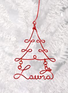 DIY wire wrapped ornament by darlene