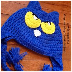 A personal favorite from my Etsy shop https://www.etsy.com/listing/471567114/crochet-pete-the-cat-inspired-beanie