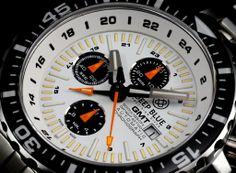 TimeZone : Industry News » N E W M o d e l - Deep Blue Daynight T-100 63 GMT Chonograph