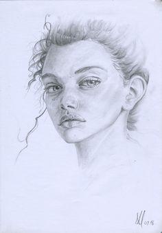 Marina Nery  Pencils on common paper.  Alessandro Masciari on ArtStation
