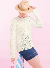 Bergère de France - Special Issue COTON SATINE #04 Lacy sweater