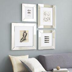 mirrored picture frames | Mirror Loft Frames | west elm - mirrored frames, monogrammable frame ...