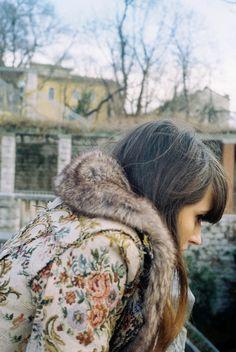 her coat
