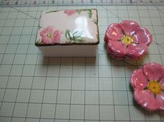 Franciscan desert rosetrinket boxjewelry box by mymothermyself