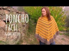 Tutorial Poncho Fácil y Rápido Ganchillo   Crochet - YouTube