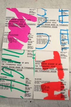 The Typographic Voice 2009 exhibiton posters - ArtEZ Arnhem Academy of Arts