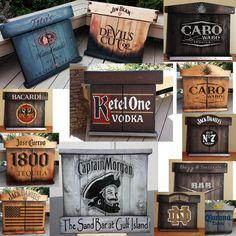 Custom built Rustic wood dart board sisal fiber bristle dartboard cabinet vodka whiskey bourbon game room man cave billiards personalized