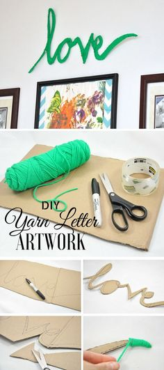 Check out the tutorial: #DIY Yarn Letter Art @istandarddesign