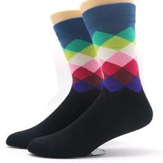 Mens ?? Canada America Flag compression sweat-absorbent dress socks baseball cute crew socks