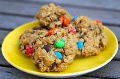 Gluten free Monster cookies, from Cooking with my kid.  Just how to make them nut free too?